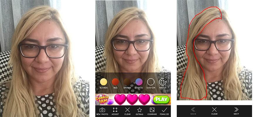 Saç Rengi Değiştirme Uygulaması Fundalina
