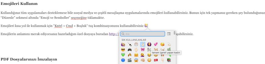 mac-icin-emoji-kullanimi