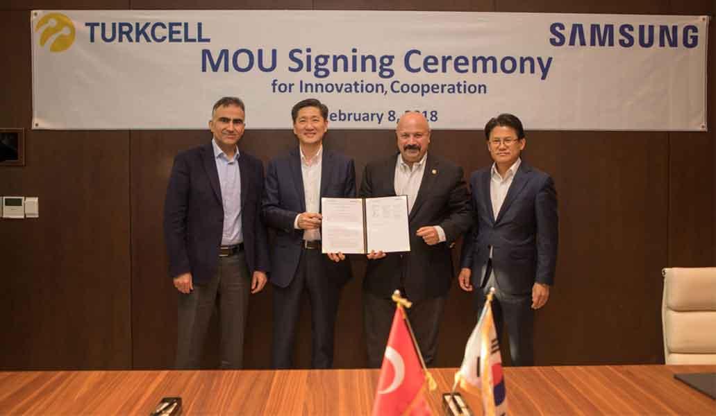 Turkcell ve Samsung5G için Güçlerini Birleştiriyor