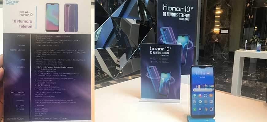 Honor10 Türkiye'de